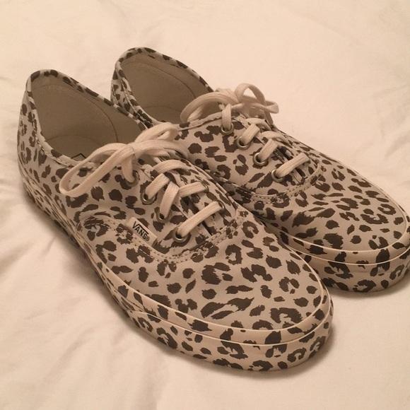 4de6d20ec5fac7 NEW Vans mono print Leopard sneakers 7.5 Authentic